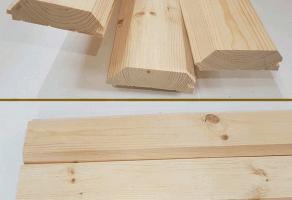 Имитация бруса (фальш брус) внутренний 20×100мм — 220 грн/м2